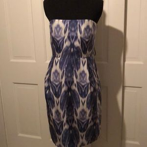 NWT J.Crew Strapless suck water color dress size 2
